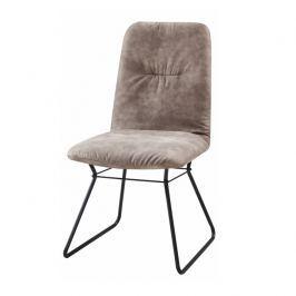Moderní židle, šedá látka / černý kov, ALMIRA