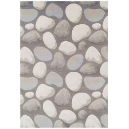 Koberec, hnědá / šedá / vzor kameny, 133x190, Menga