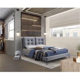 Moderní postel, šedá, 160x200, KOLIA
