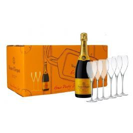 Veuve Clicquot Party Set Brut 6×0,75l 12,5% + 6x sklo GB