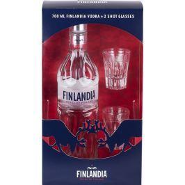 Finlandia vodka 0,7l 40% + 2x sklo GB