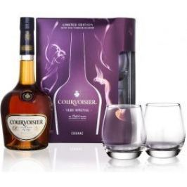 Courvoisier VS 0,7l 40% + 2x sklo GB