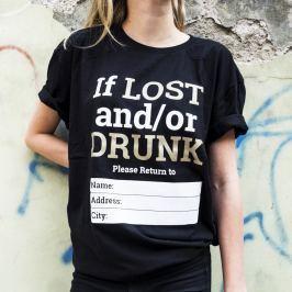 Tričko Alkohol.cz If I Lost... XXL
