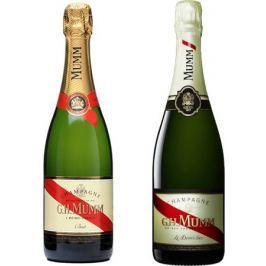 Mumm Cordon Rouge Brut + Mumm Le Demi-Sec 12×0,75l 12%
