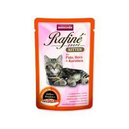 Kapsička ANIMONDA Rafine Kitten krůtí + srdce + mrkev 100g