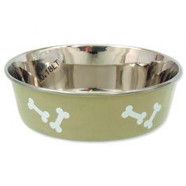 Miska DOG FANTASY nerezová s gumovým spodkem béžová-kost 11 cm 180ml