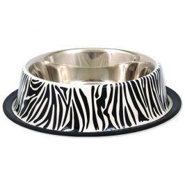 Miska DOG FANTASY nerezová s gumou zebra 33 cm 2800ml