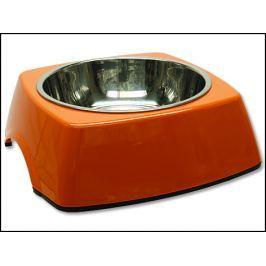 Miska DOG FANTASY nerezová čtvercová oranžová 22,5 cm 700ml