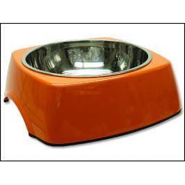 Miska DOG FANTASY nerezová čtvercová oranžová 27,7 cm 1400ml
