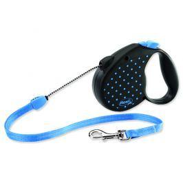 Vodítko FLEXI Color Dots lankové modré M - 5 m
