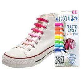 Shoeps - Silikonové tkaničky mix pink