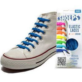 Shoeps - Silikonové tkaničky námořnická modrá