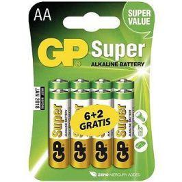 GP Super Alkaline LR6 (AA) 6+2ks v blistru