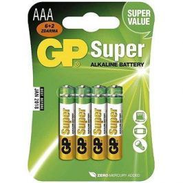 GP Super Alkaline LR03 (AAA) 6+2ks v blistru