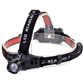 Solight čelová LED svítilna, 3W Cree LED, černo-červená