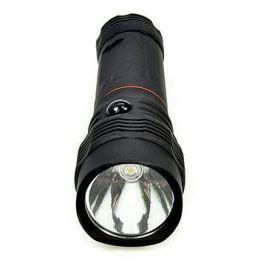 Solight LED svítilna vysouvací, 3W COB + 1W, černá