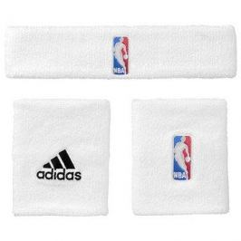 Adidas  NBA Wristband prus Headband White Youth
