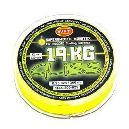 WFT - Šňůra GLISS 19KG 0,25mm 300m Žlutá