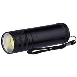 Emos kovová, 3W COB LED, na 3x AAA černá
