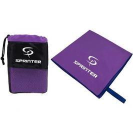Sprinter - ručník z mikrovlákna 70 × 140 cm - fialový