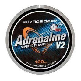 Savage Gear Šňůra HD4 Adrenaline V2 0,10mm 13lbs 6kg 120m Šedá
