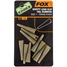 FOX Edges Lead Clip Tail Rubbers Velikost 7 Trans Khaki 10ks