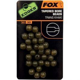 FOX Edges Tapered Bore Beads 4mm Trans Khaki 30ks