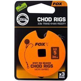 FOX Standard Chod Rigs Barbed Velikost 5 30lb 3ks