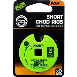 FOX Short Chod Rigs Barbed Velikost 4 30lb 3ks