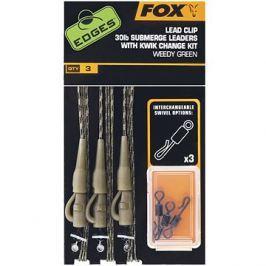 FOX Submerge Leader 30lb Lead Clip Rig + Kwik Change Kit Green
