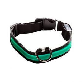 Eyenimal svítící obojek pro psy - zelený - M