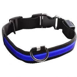 Eyenimal svítící obojek pro psy - modrý - XL