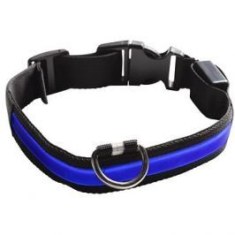Eyenimal svítící obojek pro psy - modrý - M