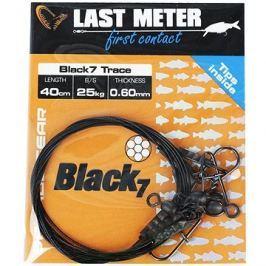 Savage Gear Black7 Trace 0,60mm 25kg 40cm 3ks