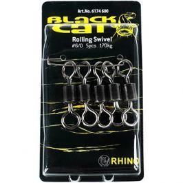 Black Cat Rolling Swivel Velikost 6/0 170kg 5ks