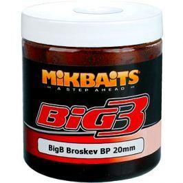 Mikbaits Legends Boilie v dipu BigB Broskev Black pepper 20mm 250ml