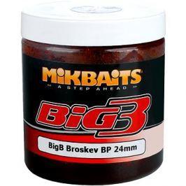 Mikbaits Legends Boilie v dipu BigB Broskev Black pepper 24mm 250ml