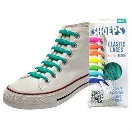 Shoeps - Silikonové tkaničky green sea