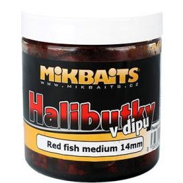 Mikbaits Halibutky v dipu Red fish 14mm 250ml