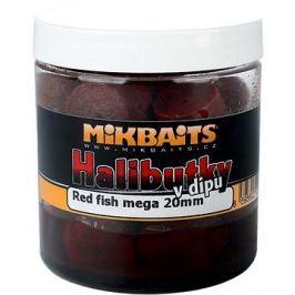 Mikbaits Halibutky v dipu Red fish 20mm 250ml