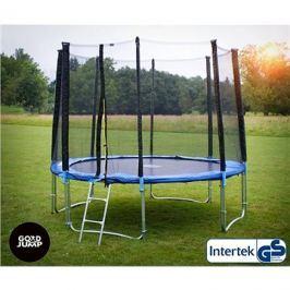GoodJump 4UPE trampolína 305 cm s ochrannou sítí + žebřík + krycí plachta