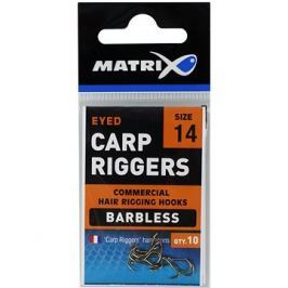 FOX Matrix Carp Riggers Hooks Barbless Velikost 14 10ks
