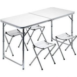 Cattara DOUBLE šedý + 4x židlička