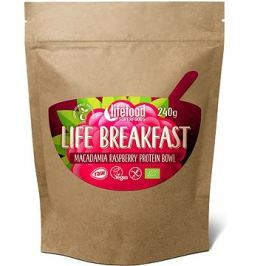 Lifefood Life Breakfast Bio Raw  Kaše malinová s makadamiemi
