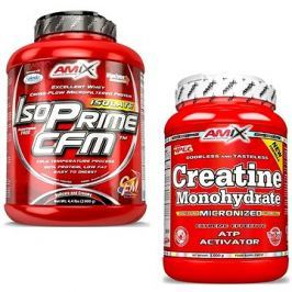 Amix Nutrition IsoPrime CFM Isolate, 2000g, Chocolate + Amix Nutrition Creatine monohydrate, powder,