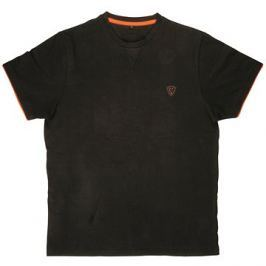 FOX Brushed Cotton T-Shirt Black/Orange