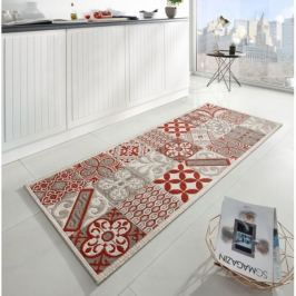 Zala Living - Hanse Home koberce Běhoun do kuchyně Soho 102681 Beige Rot 80x200 cm cm (Vánoční),   80x200 cm   Červená
