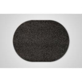 Vopi koberce Kusový černý koberec Eton ovál,   120x160 cm Černá