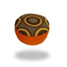 Ing. Klára Patočková - Obchod s radostí Meditační sedák s oranžovou mandalou, oranžový,  sedáků 12 x 30 cm Oranžová