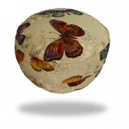 Ing. Klára Patočková - Obchod s radostí Meditační sedák s motýlky,  sedáků 12 x 30 cm Béžová